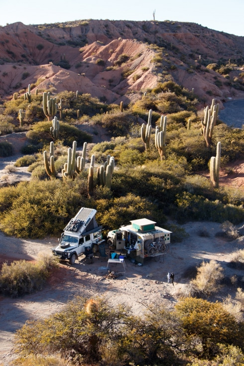 Wild camp, Parque Nacional los Cardones, Argentina