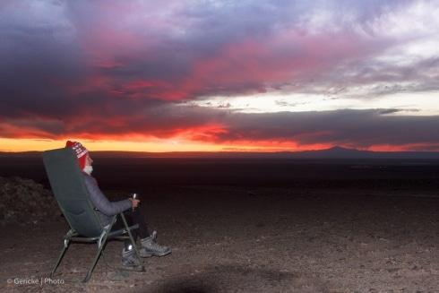 Wild camping, Atacama desert, Chile