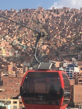 Cable car, La Paz, Bilivia