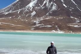 Laguna Verde (Green lake), Altiplano, Bolivia