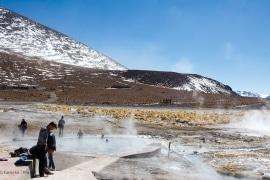 Termas de Polques Bolivien, Altiplano, Bolivia