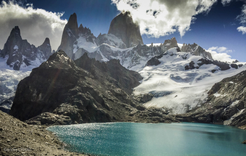 Mount Fitzroy from lake, Argentina
