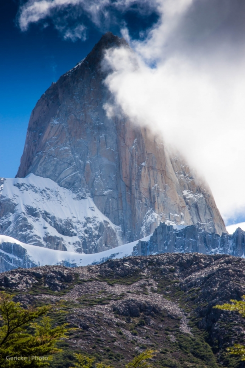 Fitzroy in the clouds, Argentina