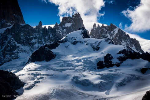 Peaks to the right of Fitzroy, El Chalten, Argentina