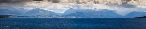 San Carlos de Bariloche from a distance, Argentina
