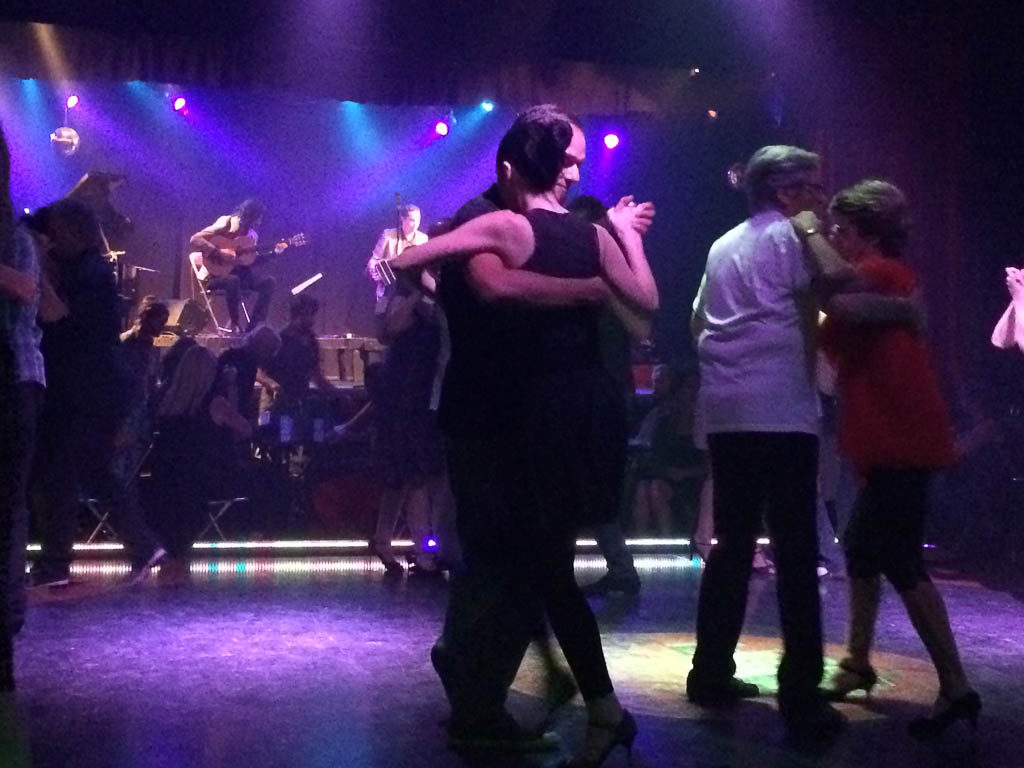 Tango in a Milonga - a club where locals go to dance the tango